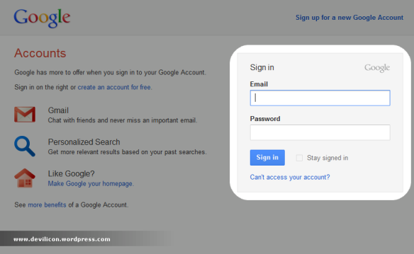 Gmail login Interface Update  | Devilicon's Blog